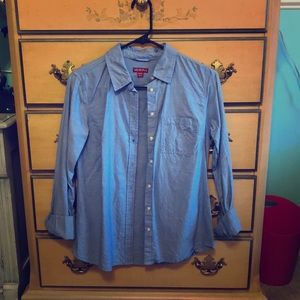 Long sleeve blue button up